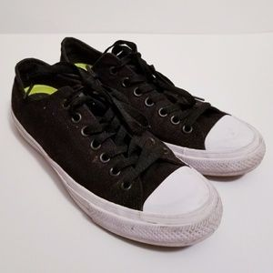 Converse All Star Sz 10.5 Black Low Top Shoes
